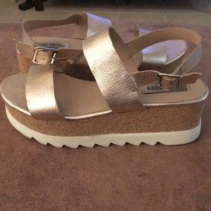 97995f576a9 Steve Madden Shoes - Rose Gold Steve Madden Krista Platform Sandals